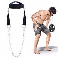 Neck Weight Lifting Grip Wraps Straps Strengh Exercise Adjustable Head Gym Fitness Crossfit Trainning Belts Steel
