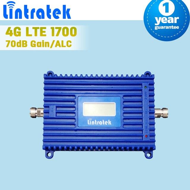 Жк-дисплей 4 г LTE 1700 FDD 4 Mobile усилитель сигнала 70дб усиления ALC управления GSM AWS 3 г 1700 мГц сотового телефона