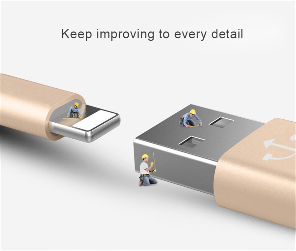 NOHON 2PC USB Fast Charging Data Cable For Apple For iPhone XS MAX XR X 7 6 8 6S 5S 5 Plus For iPad Mini 8 Pin Phone Charge Cord (7)