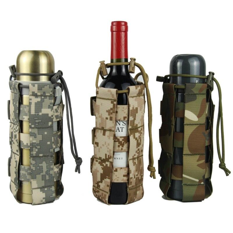Наружная тактическая бутылка для воды сумка нейлон Военная фляга Чехол кобура чайник для путешествий сумка 0.5L 2.5L-in Мешки для воды from Спорт и развлечения
