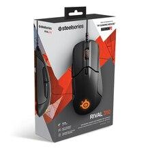 SteelSeries Rival 310 RGB FPS optyczne USB przewodowa mysz do gier z 12000 CPI podzielone przyciski spustowe CS LOL CF dla Windows Linux