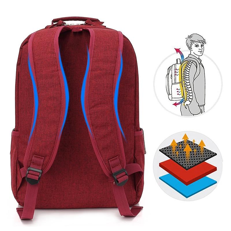 KINGSLONG 15.6 inch Laptop Backpack Women's Mochila for Teenagers Fashion school backpack linen Casual Bags Travel bag for Women
