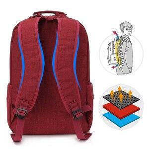 Image 2 - Kingslong mochila impermeable para ordenador portátil para mujer, morral para ordenador portátil de 15,6 pulgadas, para viajes, trabajo, negocios, estilo escolar, color rojo