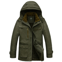 IN-YESONブランドフリース冬ジャケットメンズ厚みの軍事メンズパーカー雪コートjaqueta masculina inverno大きなプラスサイズ5xl