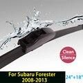 """Escovas para Subaru Forester (2008-2013) 24 """"+ 18"""" fit padrão J gancho limpador braços só HY-002"""