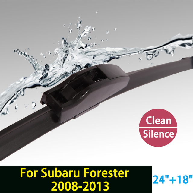"Wiper blades for Subaru Forester (2008-2013) 24""+18"" fit  standard  J hook wiper arms only HY-002"