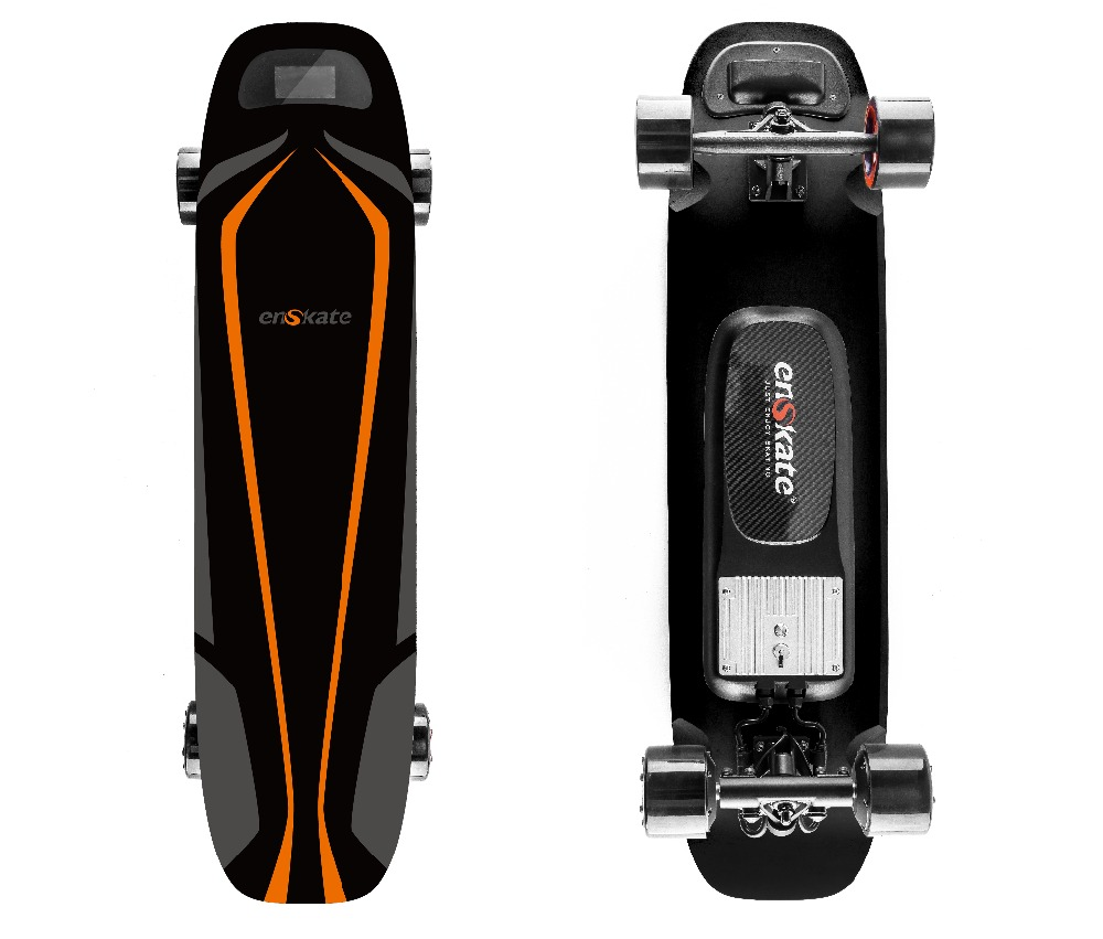 Woboard S Placa Longboard Skate Elétrico de Controle Remoto 4 4 Rodas Dual Motors 500 W com Tela LED Modos de Velocidade