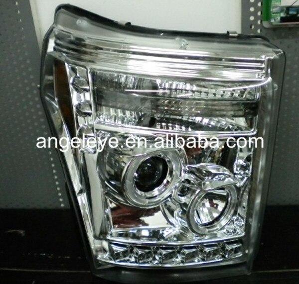 Для Форд Raptor F250 F350 F450 F550 свет голову Ангельские глазки серебро Цвет 2011-2014 ...