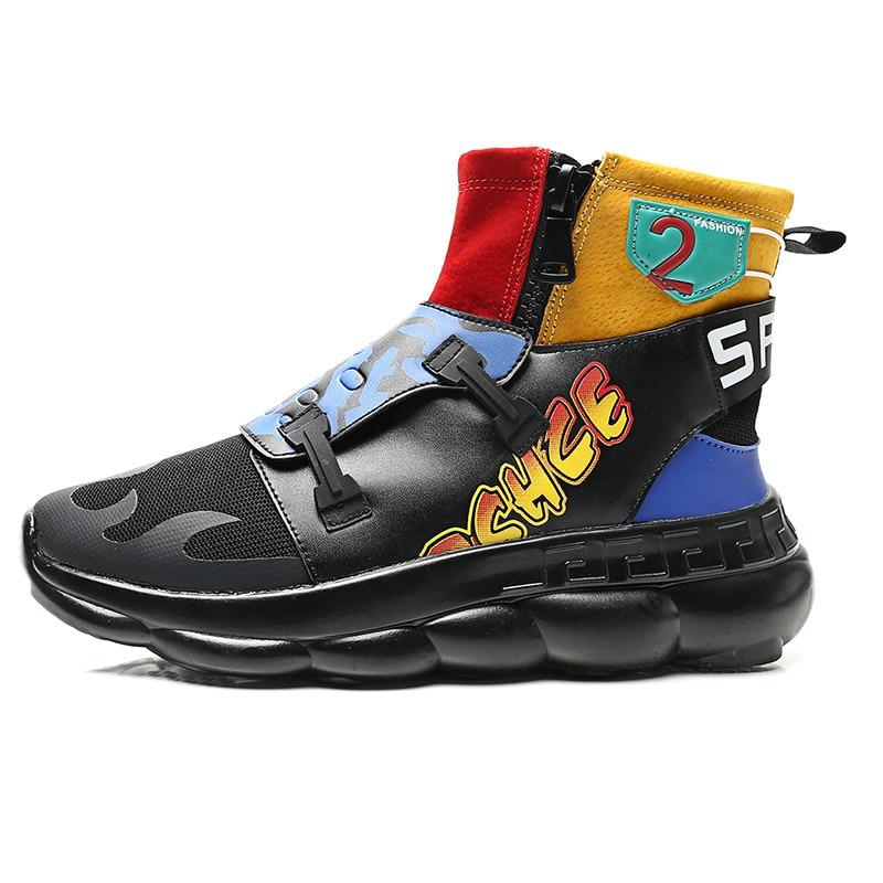 Fermeture Offre Automneamp; High Top Spéciale Décontracté black Glissière Sneakers Hommes Hiver Colors Marque Décontractées Zapatos Chaussures Tendance À PTOkXiZu