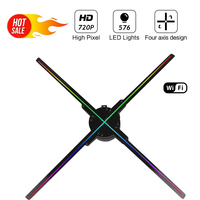 50CM 576 lamp beads 3D Hologram Advertising Fan Projector light display holographic LED holograma wifi APP control advertisement