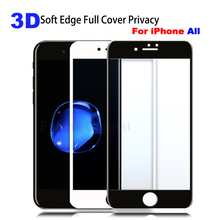 3D Curved Edge Full Cover Screen Protector For iPhone 7 6S Tempered Glass On The For iPhone 6 6 s 7 8 Plus Protective Glass Film 0 3mm anti uv tempered glass screen film cover for iphone 6s 6 4 7 arc edge black