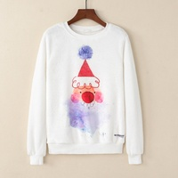 KaiTingu Women Fashion Hoodies Sweatshirt Casual Long Sleeve Pullover Harajuku Cute Christmas Clown Print For Autumn