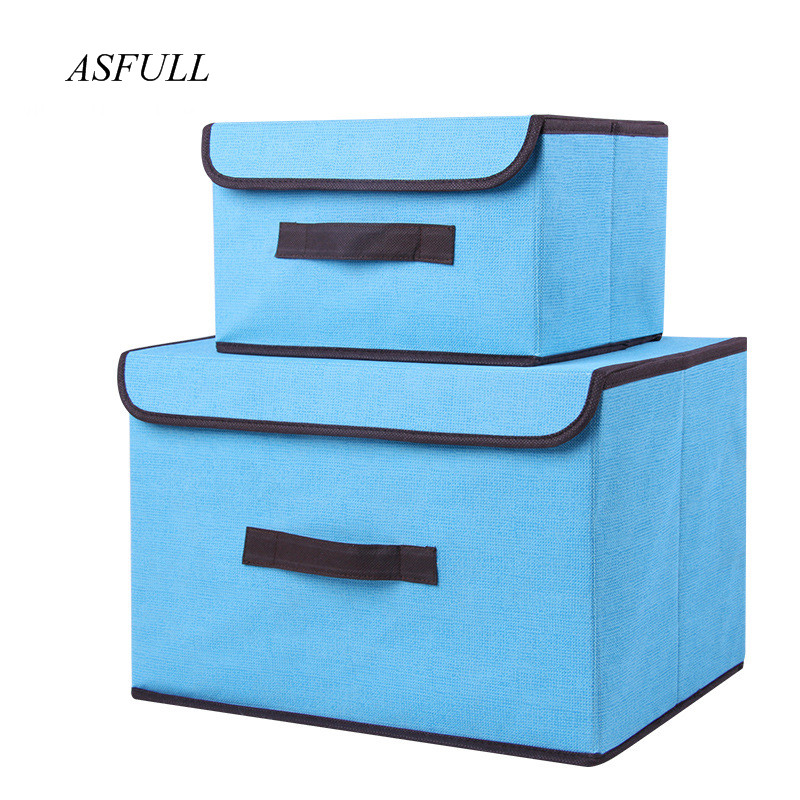 Storage-Box Organizer Socks Snacks Cosmetics Liene Sundries Household Cotton With Cap