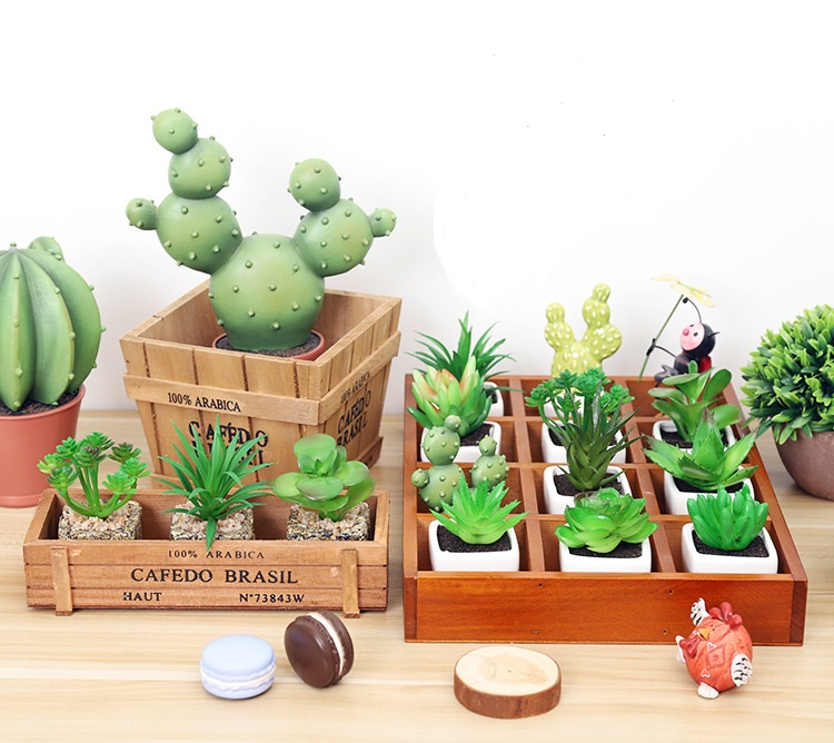 Image 4 - Retro Style Solid Wooden Box Succulent Flower Bed Garden Planter Window Box Trough Pot Plant Bed Pot Garden Supplies-in Flower Pots & Planters from Home & Garden