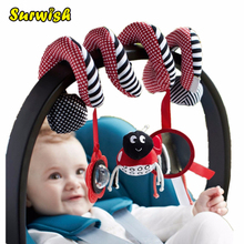Surwish Cute Infant Babyplay Baby Toys Activity Spiral Bed Stroller Toy Set Hanging Bell Crib Rattle