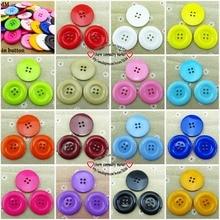 10 шт 38 мм круглые смешанные или одиночные кнопки смолы 4 отверстия пальто ботинки с кнопками шитье декоративные аксессуары одежды R-076