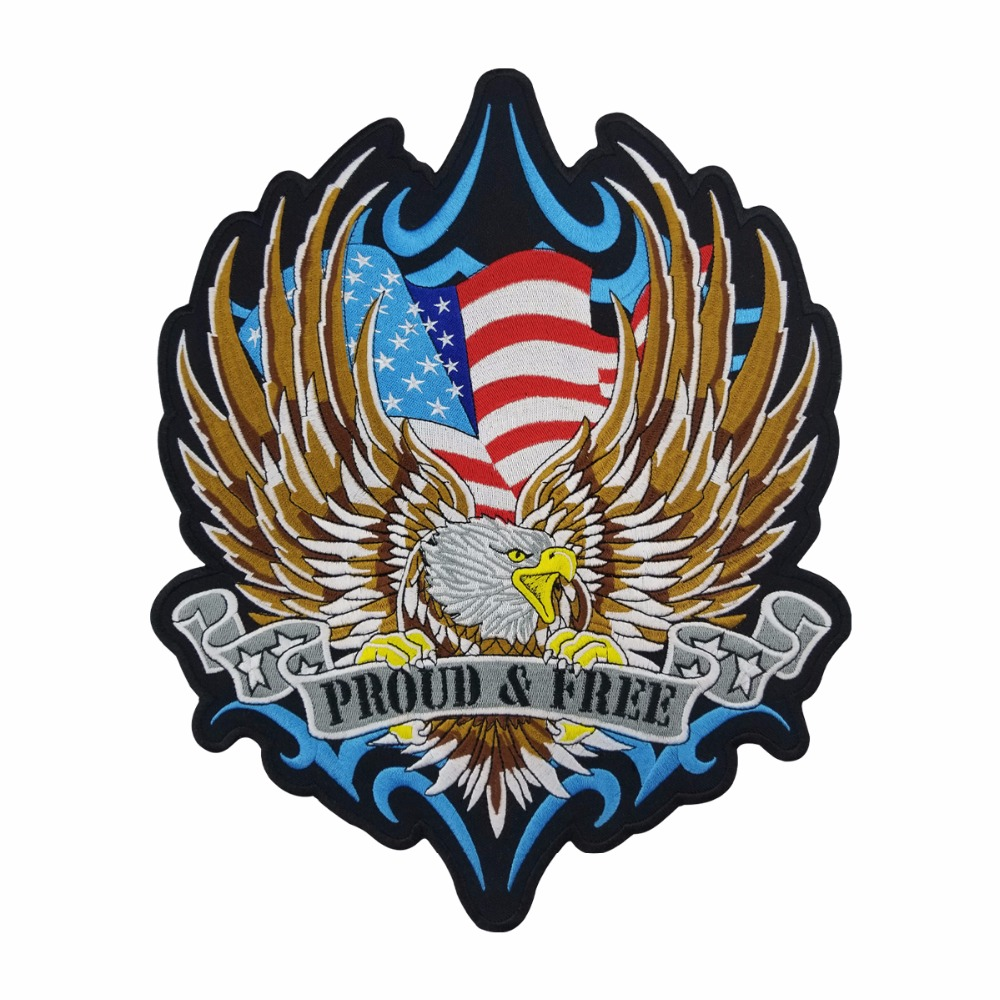 ALL GAVE SOME EAGLE for Biker Motorcycle Vests Jackets Military Back Patches 10/""