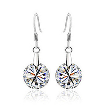 New Fashion – 925 pure silver earrings hearts and arrows cubic zircon earrings drop earring sparkling 213