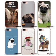 Para Samsung Galaxy S2 S3 S4 S5 MINI S6 S7 borda S8 S9 Plus Nota 2 3 4 5 8 fundas Coque Westie Cão Pug Filhote de Cachorro animal Caso Pintado(China)