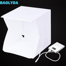 Baolyda 20 LED Mini Stüdyo Fotoğraf Kutusu 24 cm ışık kutusu Fotoğraf Kutusu Katlanır Lightbox beyaz Kutu Fotobox