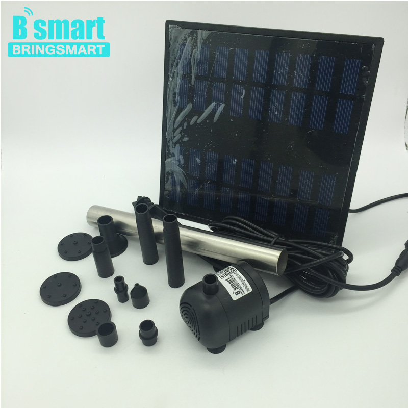 JT-250-1.8W Solar Fountain 240L/H Lift 110CM 9V DC Brushless Pump with Solar Panel Kit Submersible Pump