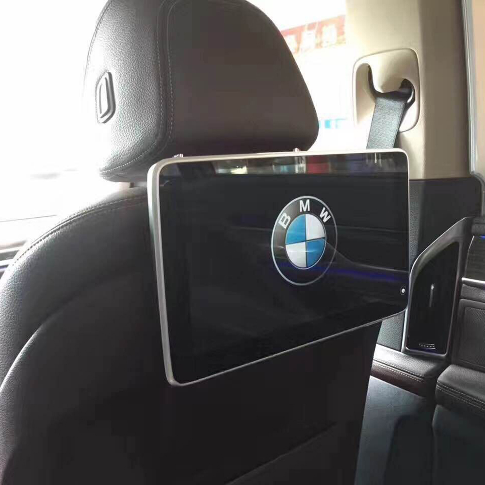 Новинка 2018 Электроника Android подголовник автомобиля монитор задние сиденья Развлечения для 2015 BMW ТВ Авто 2 шт.