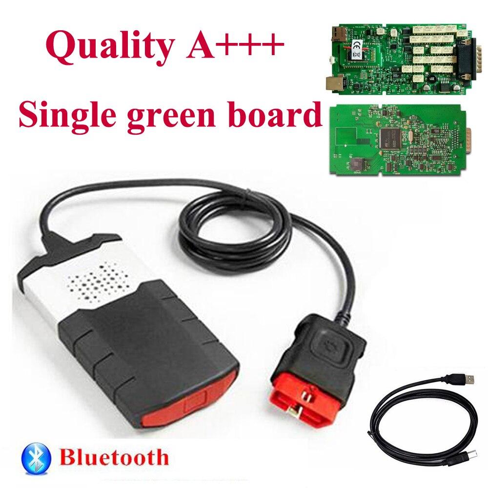 Carte pcb verte simple avec bluetooth obd obd2 diagnostic pour delphis autocome vd ds150e cdp voiture et camion scanner TCS livraison gratuite