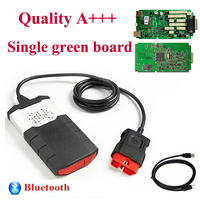 Single green board pcb with bluetooth obd obd2 diagnostic For delphis autocome vd ds150e cdp car and truck scanner TCS free ship