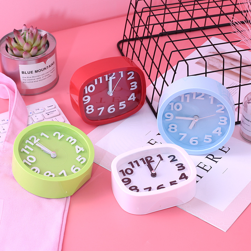 Yooap Muti-Color Cute Alarm Clock Children Living Room Decoration Round Square - Best Selling 2019 Products