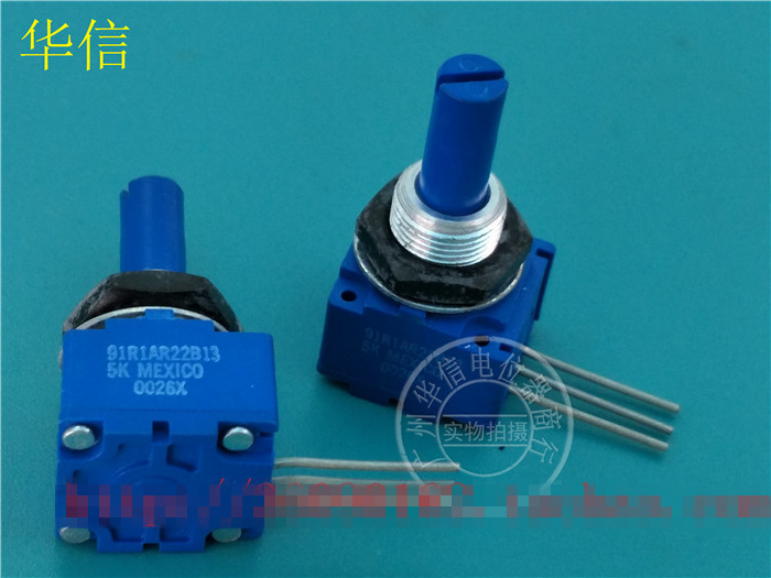 Original new 100% Mexico import 91R1AR22B13 5K sealed single potentiometer axis diameter 6MM (SWITCH) 5k potentiometer shaft axis length 10mm 3 5mm