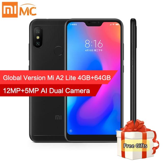 "Global Version Xiaomi Mi A2 Lite 4GB 64GB Mobile Phone 5.84"" Full Screen Snapdragon 625 Octa Core AI Dual Camera Android 8.1 CE"