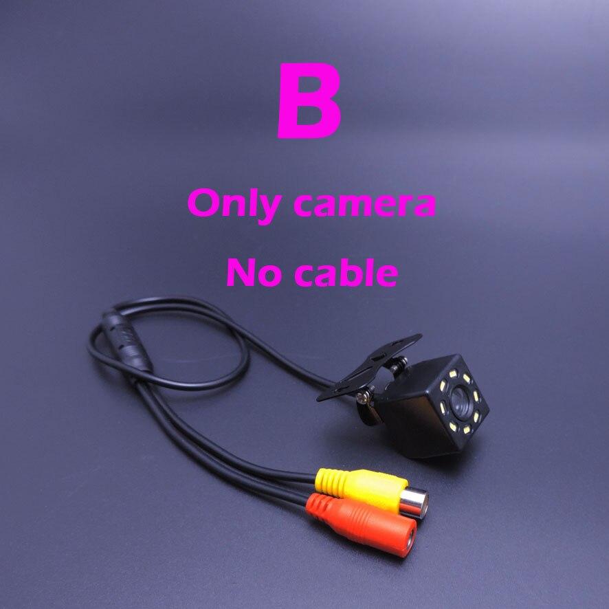 Автомобильная камера заднего вида Универсальная запасная парковочная камера 8 светодиодный водонепроницаемый HD цветной видеокабель ночного видения 6 м или 8 м на выбор - Название цвета: Only camera