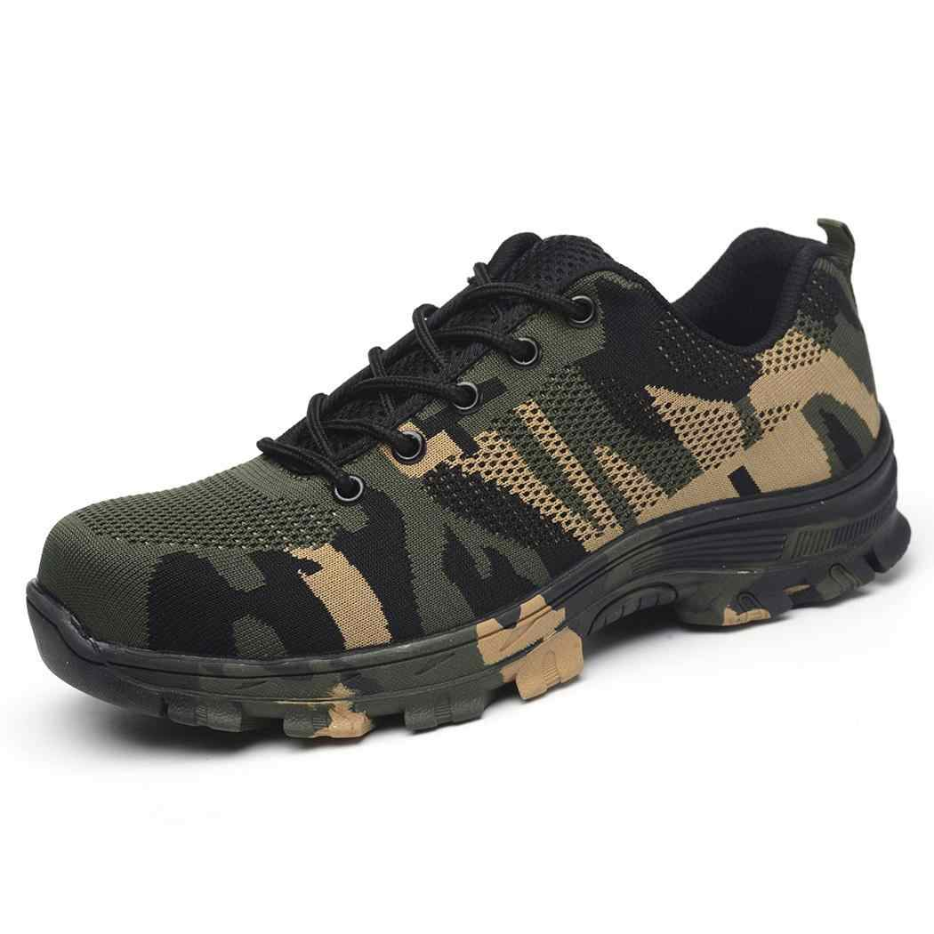 Camouflage Breathable Comfortable Construction Site Non-slip Adhesive shoes Safety Unisex Sports, Casual Shoes