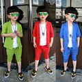 2016 Summer Children Suit Baby Boys Suits Kids tracksuit sprot linen Boys Clothes Set Short Sleeve Jackets + Pants 2pcs 2-10Y