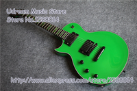 China OEM Glossy Green Finish Left Handed Suneye Eclipse Electric Guitar With Black Hardware LP SG ES Guitar Custom Available