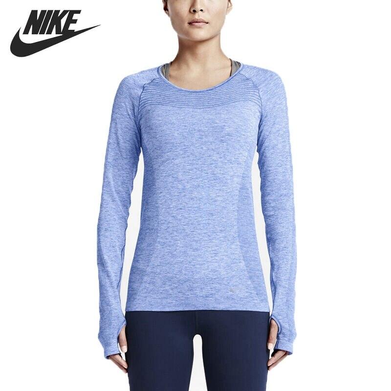 Original New Arrival   NIKE DRI-FIT KNIT LONG SLEEVE Women's  T-shirts Long sleeve Sportswear лонгслив nike лонгслив dri fit contour long sleeve