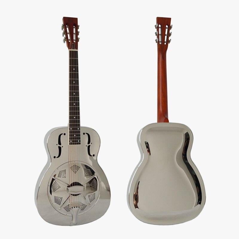 Aiersi Brand Cutway Chrome Bell Brass Blues Slide Tricone Resonator Guitar Resonator