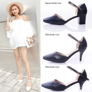 Image 2 - YALNN Women Sandals High Heels Shoes Ladies Sexy Sumer 2019 Big Size Leather Sandals High Heels Peep Toe Ankle Strap for Women