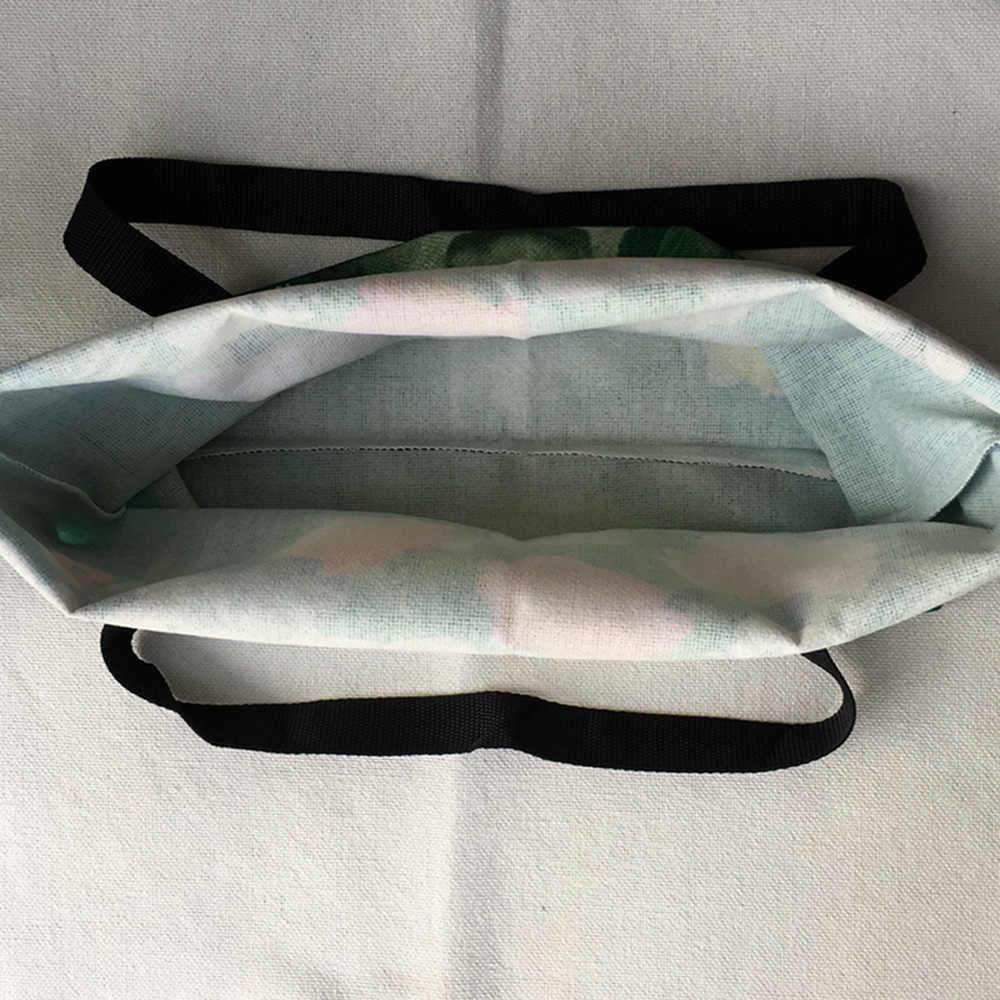 Сумка-тоут из льна с принтом собаки, индивидуальная Женская тканевая сумка с принтом Bulldog, студенческие школьные сумки, дорожные сумки для шоппинга