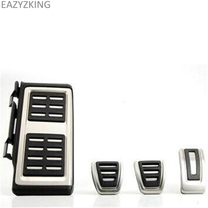 LHD Car Pedals MT For  Audi A3 8V S3 RS3 Sportback Seat Leon Rapid Octavia 5E 5F A7 Passat B8 Footrest Brake Pads Accessories