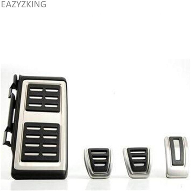 LHD Car Pedals MT For VW Audi A3 8V S3 RS3 Sportback Seat Leon Rapid Octavia 5E 5F A7 Passat B8 Footrest Brake Pads Accessories