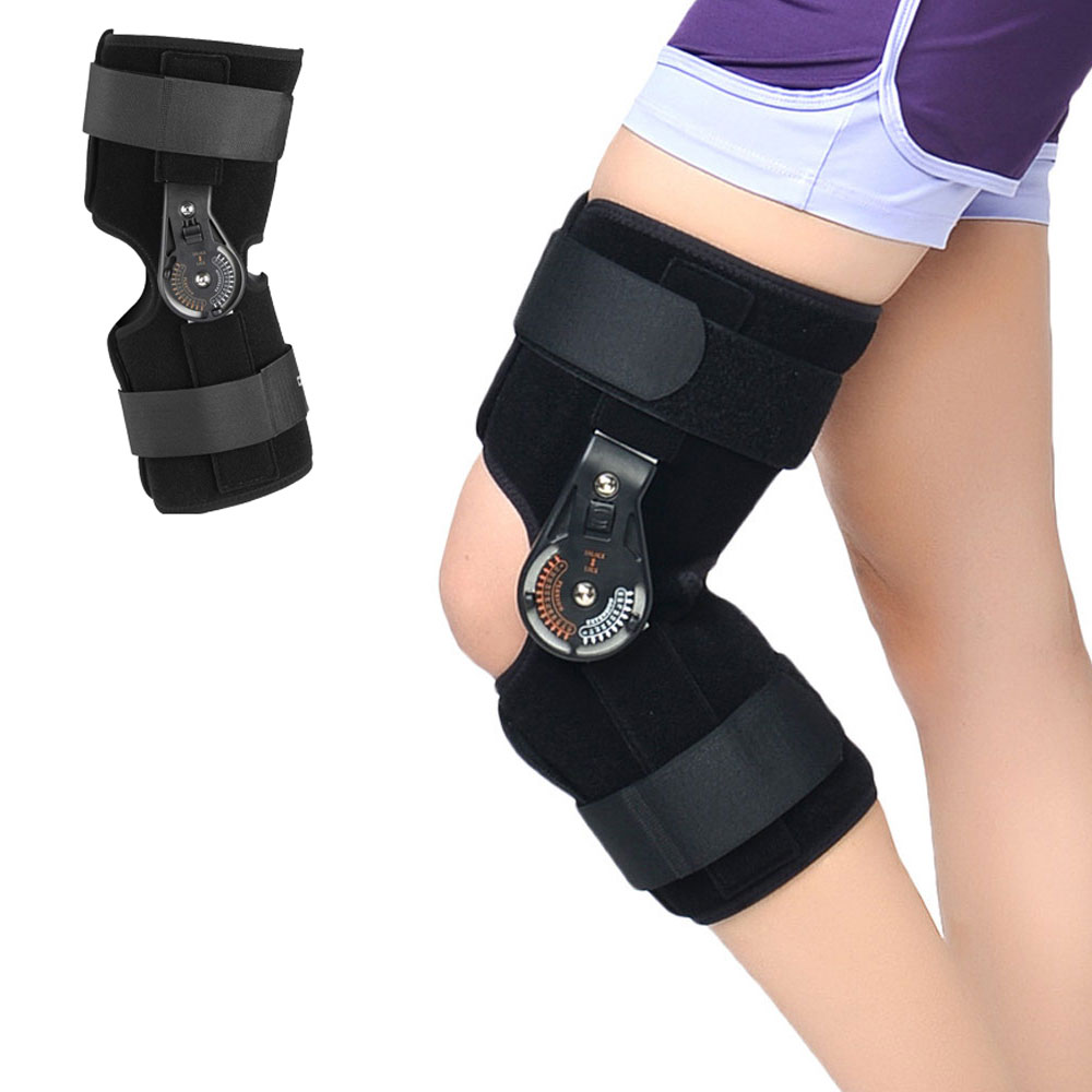 1Pcs Knee Joint Brace Support Orthosis Adjustable Medical Ligament Sport Injury Splint Knee Fracture Protector S