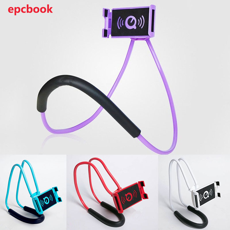 Flexible Mobile Phone Holder Hang Neck Lazy Bracket Mobile Stand Support For iPhone Android Universal Cell Phone Holder
