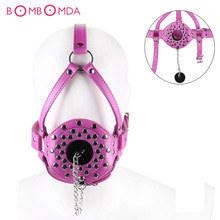 Open Mouth Ejaculation Swallow Sperm Bdsm Open Mouth Gag Full Head Harness Slave Mask Gag Sex Toys For Couples.