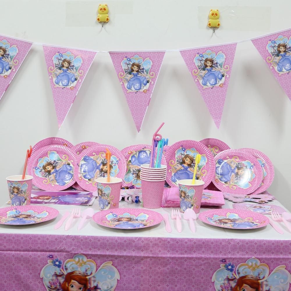 10pcs 7inch Happy Birthday Theme Paper Plates Party Supplies Decoration Cake Dish Disposable Baby Shower