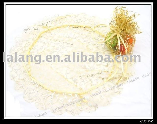 150pcs/lot Free Shipment with High Quality Round Yellow Branch Wedding Gift Favor Organza Pouch Bags 28cm 120112