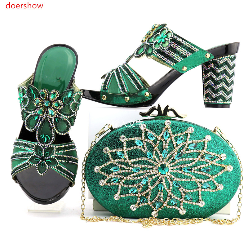 doershow new come African Matching Shoes and Bags Italian In Women Bag and Shoes Set Italy Shoes and Bag Set African Sets NJ1-8 hot artist shoes and bag set african sets italian shoes with matching bags high quality women shoes and bag to match set mm1055