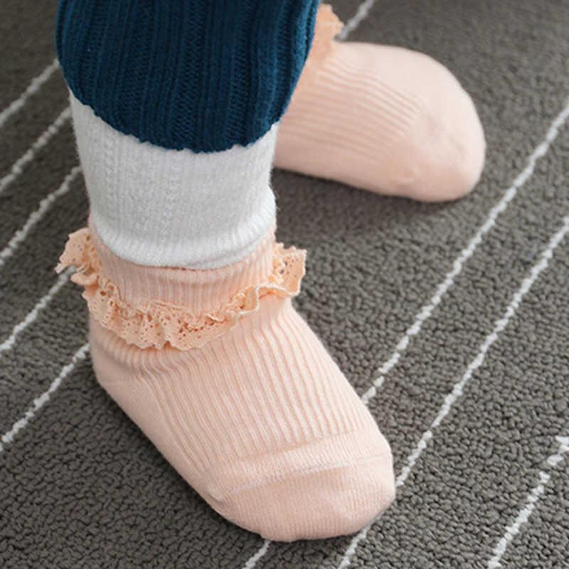 Весна и осень Новые носки для малышей милые вертикальным узором носки детские противоскользящие носки Bebe Vestidos Малыш гетры