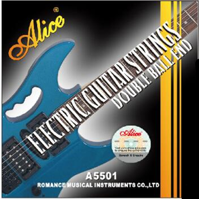 Alice A5501 No Head Electric Guitar Strings Coated Steel Core Nickel Alloy Wound Double Ball End Guitar Strings