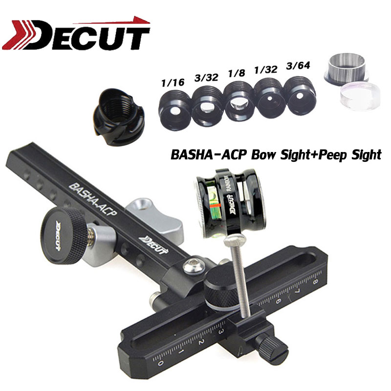 Decut Upgraded Archery Compound Bow Scope Sight Pin 4x 6x 8x Lens Hunting Shoot